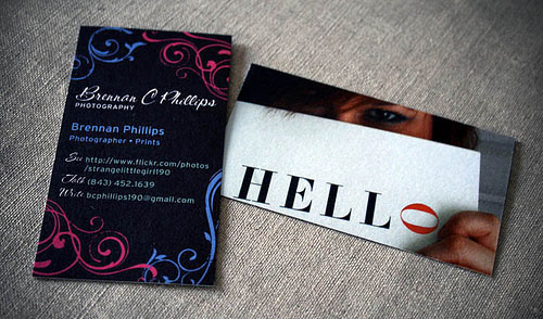 photography business cards 43 60 Photography Business Cards Inspirations