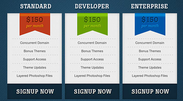 Free Pricing Table Psd Templates  Smashfreakz