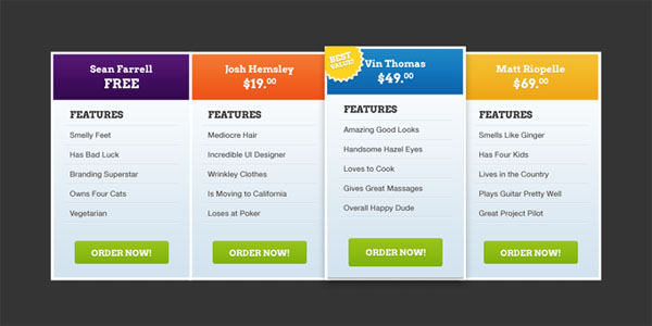 pricing table psd templates 06 37 Free Pricing Table PSD Templates