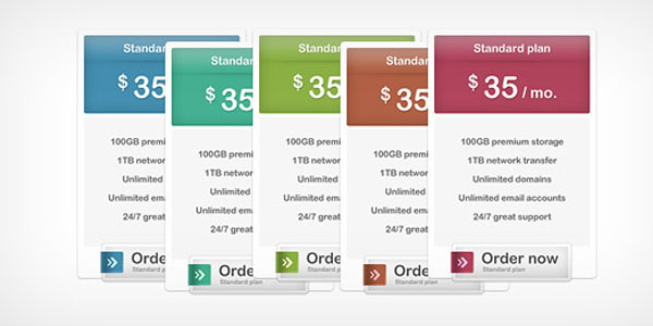 pricing table psd templates 16 37 Free Pricing Table PSD Templates