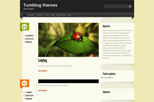 tumblr style wordpress themes 15 18 Free Awesome Tumblr Style WordPress Themes