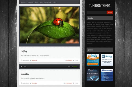 tumblr style wordpress themes 17 18 Free Awesome Tumblr Style WordPress Themes