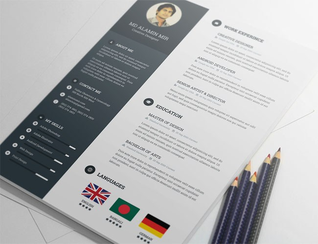 creative resume template  smashfreakz resumetemplate