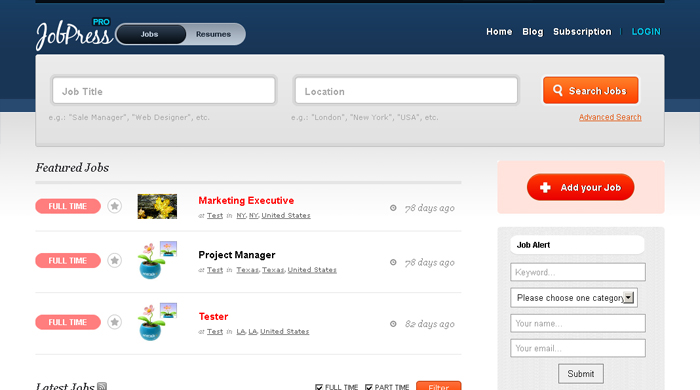 job board wordpress themes 05 6 Free and Premium Job Board WordPress Themes