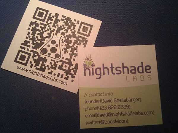 qr code business cards 10 50 Inspirational QR Code Business Cards