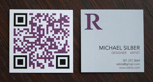qr code business cards 11 50 Inspirational QR Code Business Cards