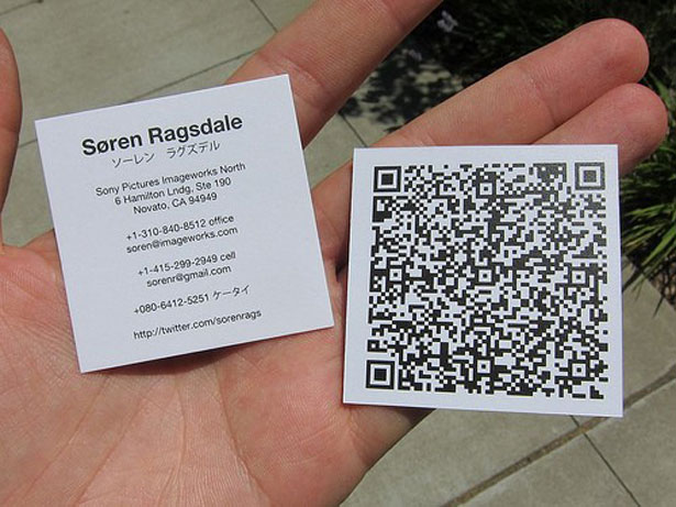 qr code business cards 16 50 Inspirational QR Code Business Cards
