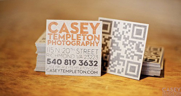 qr code business cards 23 50 Inspirational QR Code Business Cards