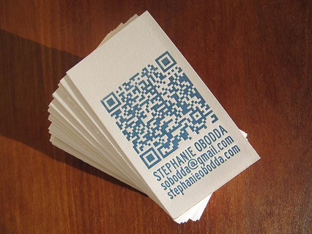 qr code business cards 25 50 Inspirational QR Code Business Cards
