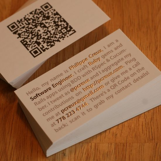 qr code business cards 28 50 Inspirational QR Code Business Cards