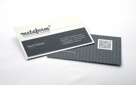 qr code business cards 31 50 Inspirational QR Code Business Cards