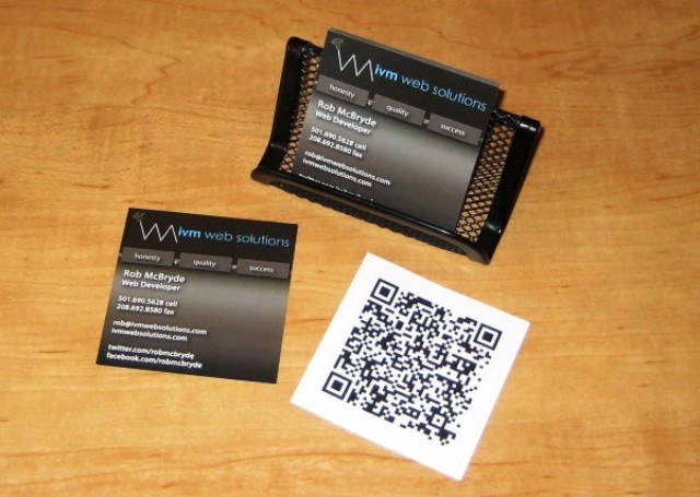 qr code business cards 42 50 Inspirational QR Code Business Cards