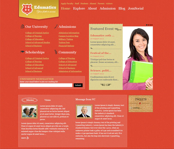 15 free and premium educational joomla templates smashfreakz edumatics responsive educational joomla template maxwellsz