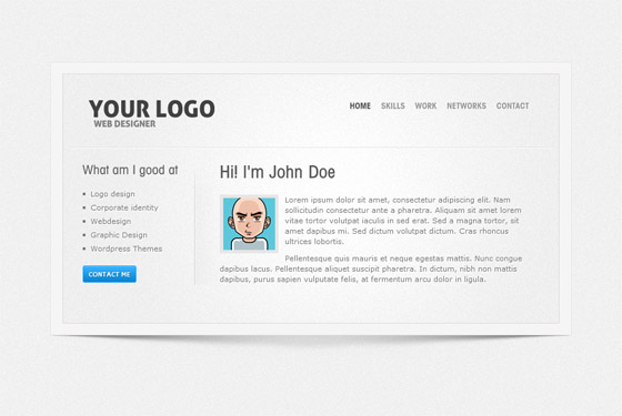 Html Vcard Template | 8 Free Vcard Website Templates For Online Resume Smashfreakz