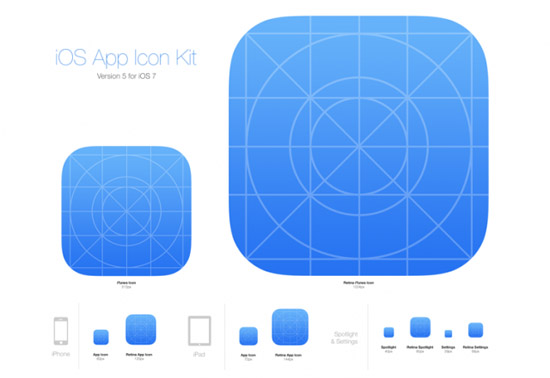 10 Free Ios7 Icon Template For Your Application Icons Smashfreakz
