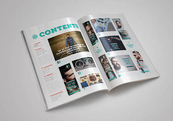 gabarit magazine indesign