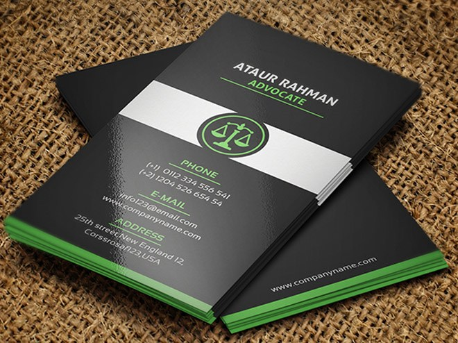 25 creative lawyer business card templates smashfreakz free lawyer business card template reheart Images