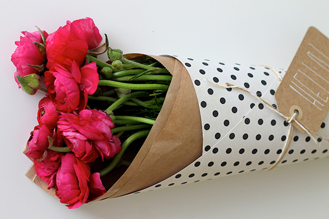 How To Wrap Flowers With Kraft Paper Flowers Healthy