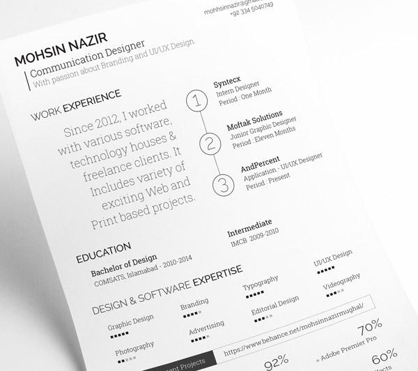 27 free minimal resume template for any job opportunity smashfreakz Marketing Director Resume free minimal resume template 16