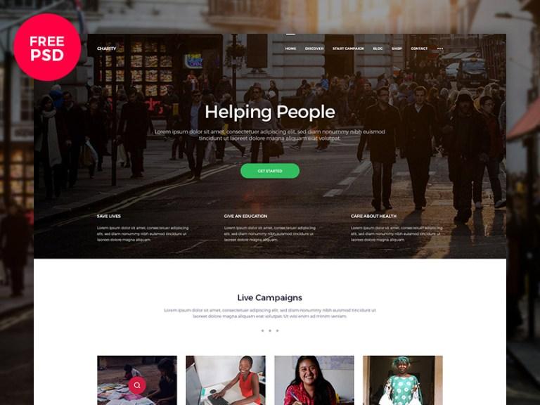 10 Free Charity PSD Website Template - Smashfreakz