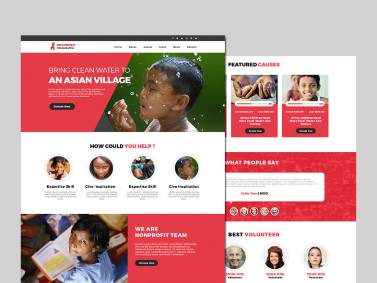 Free Website Templates For Non Profit Organizations free html ...
