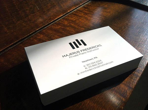 Piano Business Cards Koran Sticken Co