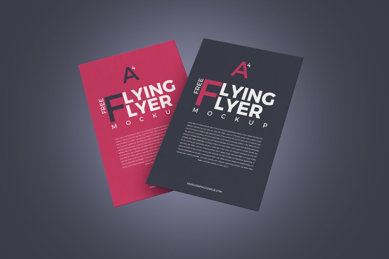 10 free flying flyer mockups with editable psds smashfreakz
