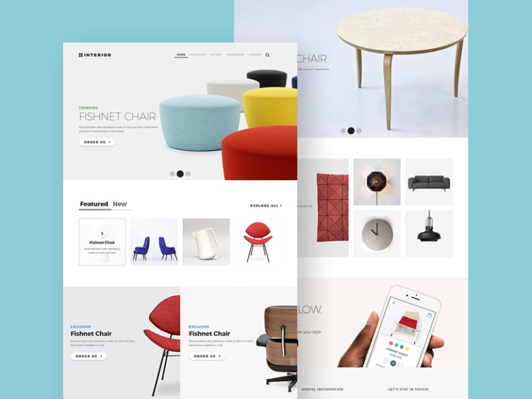 10 free furniture website templates