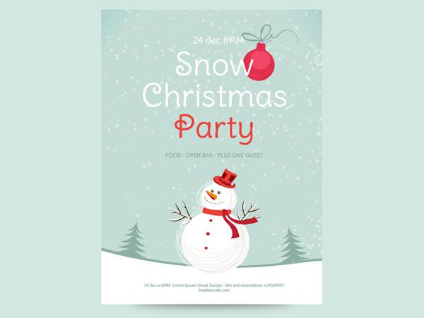 10 free christmas party flyer templates in multiple format smashfreakz