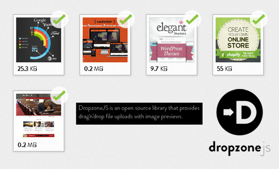 Dropzone js : Tiny Javascript Library for Drag and Drop File