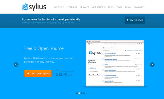 Sylus : Free and Open Source PHP Ecommerce Solution Based on