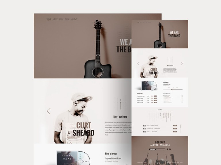 12 Free Music PSD Web Template for Band and Musician