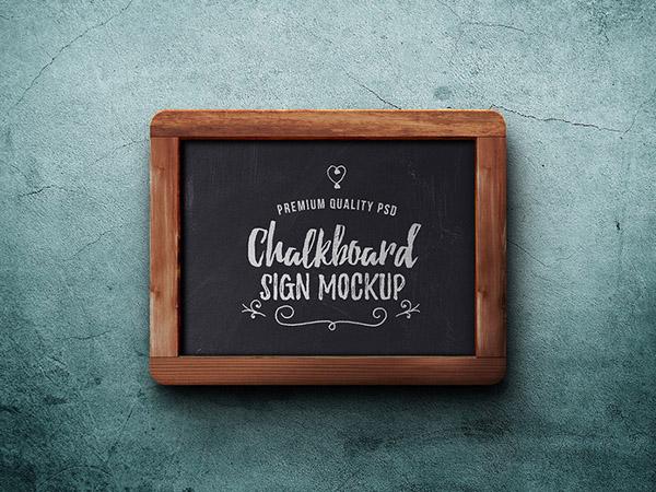 Free Chalkboard Mockup 01
