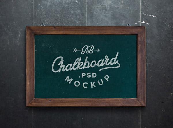 Free Chalkboard Mockup 02