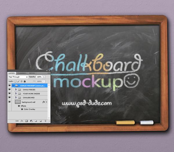 Free Chalkboard Mockup 05