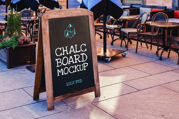 Free Chalkboard Mockup 07