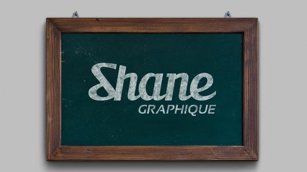 Free Chalkboard Mockup 08