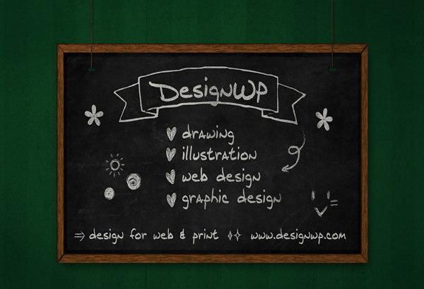 Free Chalkboard Mockup 09