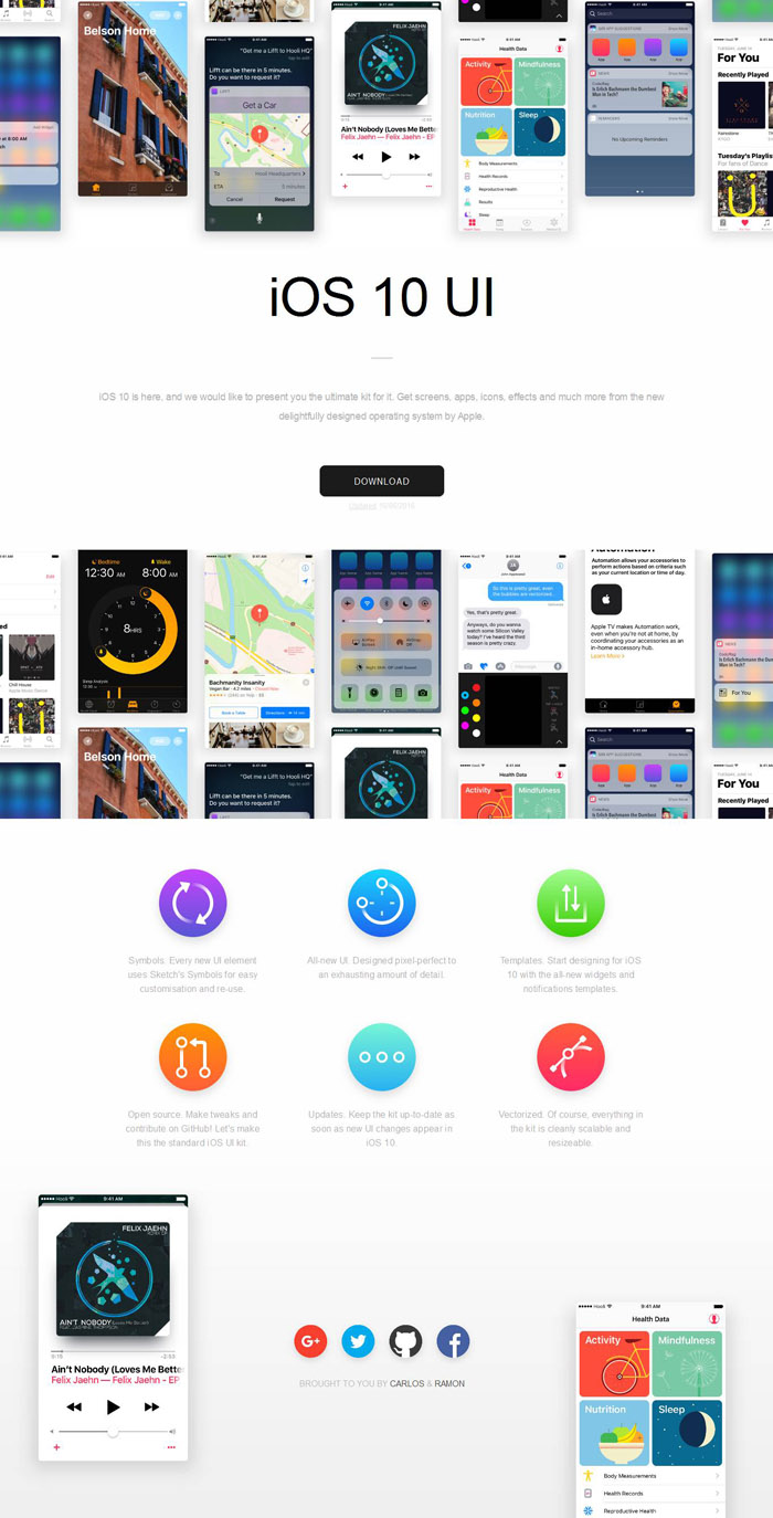 Free iOS 10 UI Kit - Smashfreakz