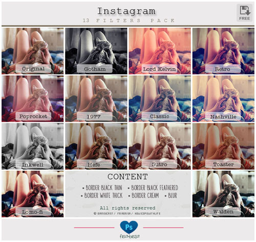 Instagram Effects Photoshop Action 17