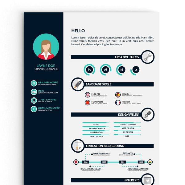 10 Free Infographic Resume Template For Best Impression Smashfreakz