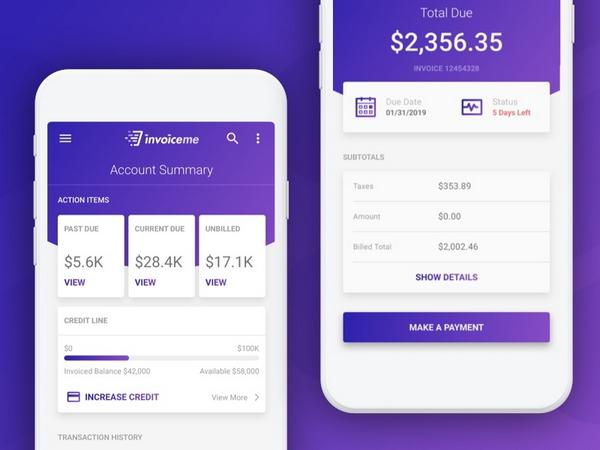 21 Invoice App UI Designs for Inspiration - Smashfreakz