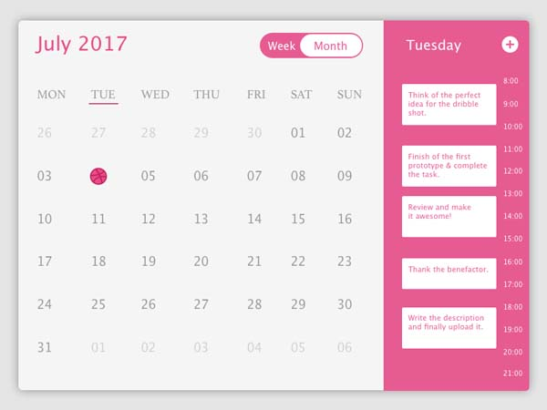 20 Creative Datepicker UI Designs for Your Inspiration