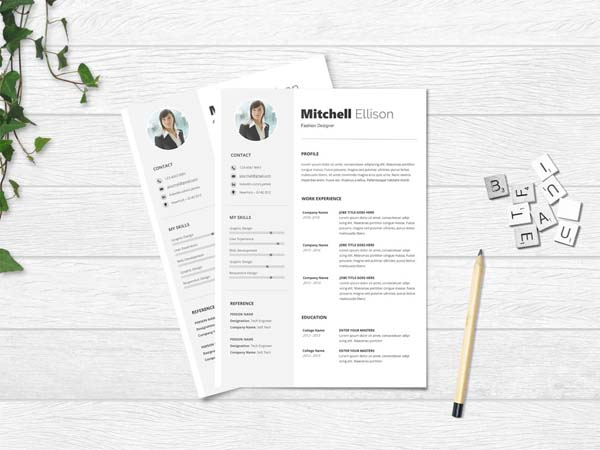 10 Free Microsoft Word Resume Templates With Clean Design